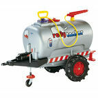 Rolly Kids Silver Tanker Tractor Trailer For Ride Ons