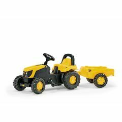 Rolly Kid JCB Tractor Pedal Ride-On & Trailer