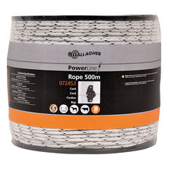 500m Gallagher Rope PowerLine White (Braided)
