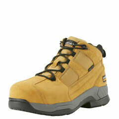 Ariat Contender Steel Toe Wheat Suede Safety Work Boot Tan