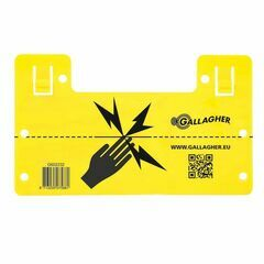 Gallagher EU Universal Electric Fence Warning Sign