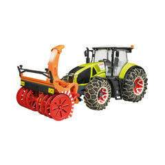 Bruder Claas Axion 950 with snow chains and snowblower 1:16