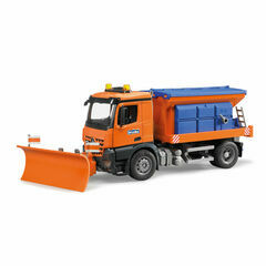 Bruder MB Arocs Winter service with snow plough 1:16