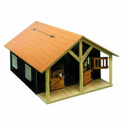 Kidsglobe Horse stable with 2 stalls and storage 1:24