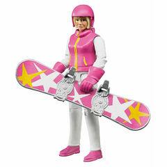 Bruder Snowboarder with accessories 1:16