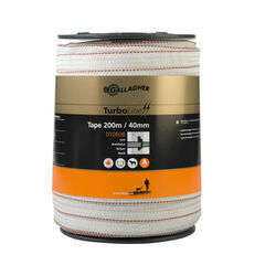 Gallagher TurboStar 40mm White Tape - 200m