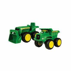 Britains John Deere Mini Sand Pit Tractor and Dump Truck Set