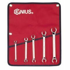 Genius Tools 5 Piece Imperial SAE Flare Nut Spanner Set