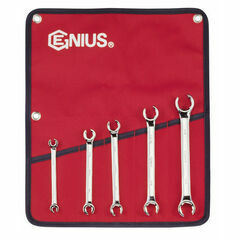 Genius Tools 5 Piece Metric Flare Nut Spanner Set