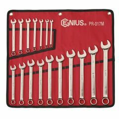 Genius Tools 17 Piece Metric Combination Spanner Set