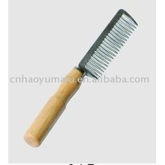 Bitz Aluminium Mane / Pulling Comb With Wooden Handle