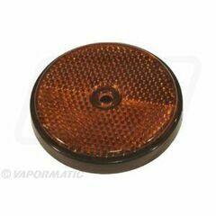 Round Orange Reflector (61mm)
