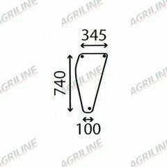 Cab Glass- DX4, DX6, DX7, DX8- Lower Front