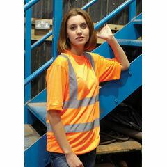 Yoko Hi Vis Short Sleeve T Shirt - Orange