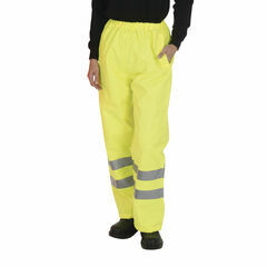 Yoko Hi Vis Waterproof Contractor Trousers - Yellow