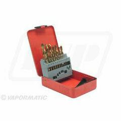 19 Piece Titanium Coated Drill Bit Set 1-10mm