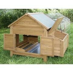 Chicken Poultry & Small Animal Hutch with Egg Nest