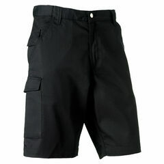Russell Polycotton Twill Shorts - Black
