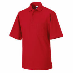 Russell Men's Heavy Duty Polo Shirt - Classic Red