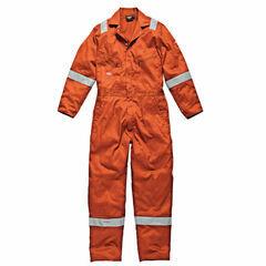 Dickies Hi-Vis Stripe Coverall - Orange