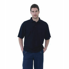 Ultimate Clothing Collection 50/50 Pique Polo Shirt - Navy Blue