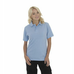 Ultimate Clothing Collection 50/50 Heavyweight Pique Polo - Sky Blue