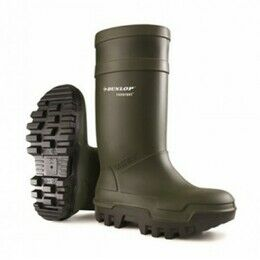 Dunlop Purofort Thermo Plus Full Safety Green Wellington Boots