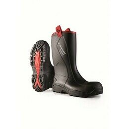 Dunlop Purofort Plus Rugged Full S5 Safety Wellington Boots Black