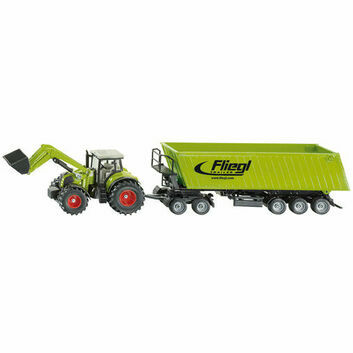 Siku Claas Tractor with Front Loader, Dolly and Tipping Trailer 1:50
