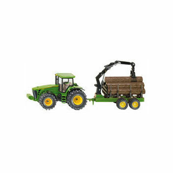 Siku John Deere with Forestry Trailer 1:50