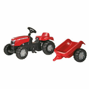 Rolly Kid Massey Ferguson Pedal Ride-On + Trailer