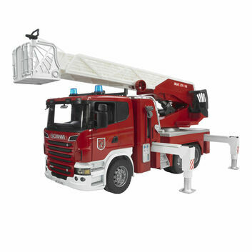Bruder Scania Fire Engine and Slewing Ladder Waterpump 1:16