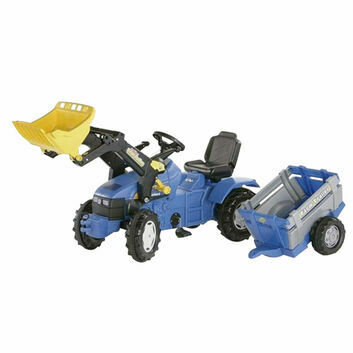 Rolly New Holland TM175 Ride-On + Loader + Farm Trailer
