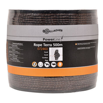 500m Gallagher Braided Rope PowerLine Terra (Brown)
