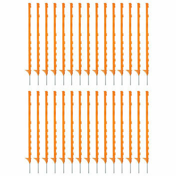 30 x 105cm Hotline Orange CP2000O Multiwire Electric Fence Posts