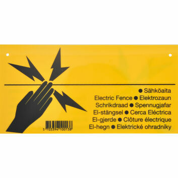 Pulsara Electric Fence Warning Sign