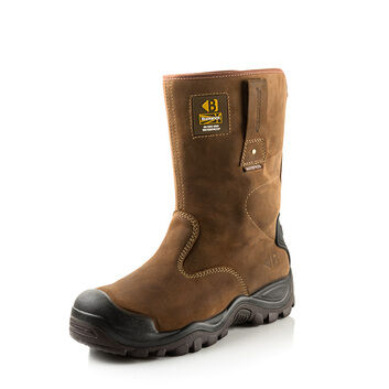 Buckler BSH010BR S3 Brown Safety Rigger Boots