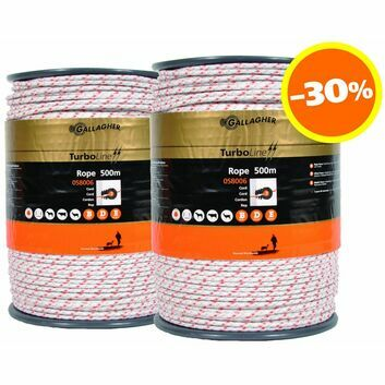 2 x 500m Gallagher Duopack TurboLine White Rope