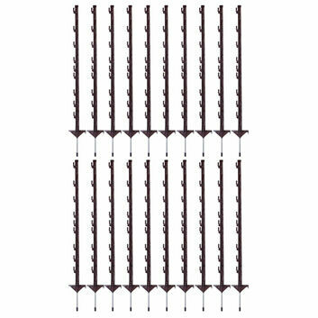 20 x 100cm Gallagher Vario Electric Fence Post Terra (Brown)