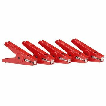 5 x Gallagher Crocodile Clip Red