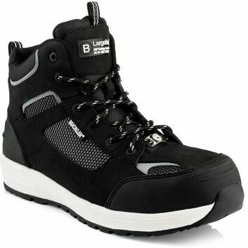 Buckler Baz Largo Bay S1 Safety Lace Trainer Black