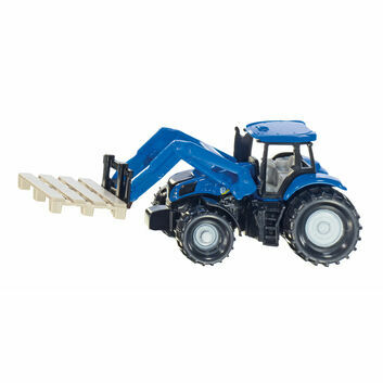 Siku New Holland Tractor with Pallet Fork and Pallet 1:87