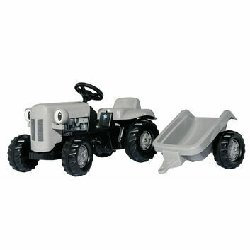 Rolly Kid Little Grey Fergie Pedal Ride-On Tractor and Trailer