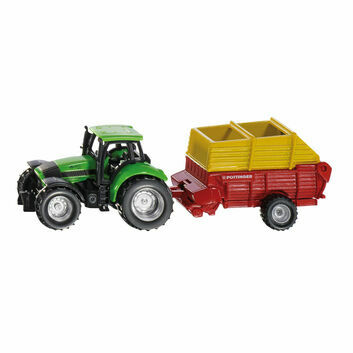 Siku Deutz Tractor with Pottinger loader wagon 1:87
