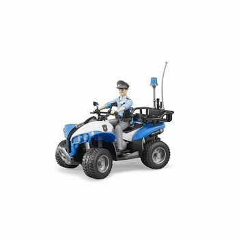 Bruder Police Quad with Policeman and Accessories 1:16