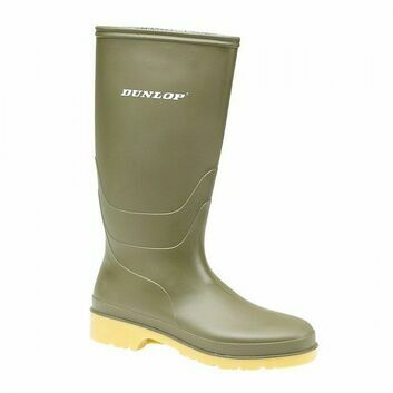 Dunlop Dull Child Green Wellington Boot