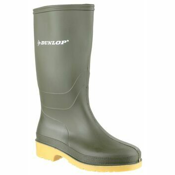 Dunlop Dull Junior Green Wellington Boot