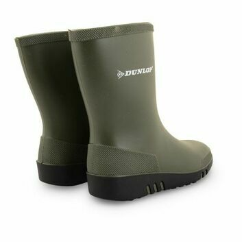 Dunlop Mini Child Green/Black Wellingtons