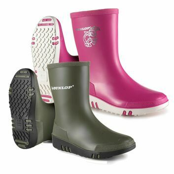 Dunlop Mini Child Pink/White Wellingtons