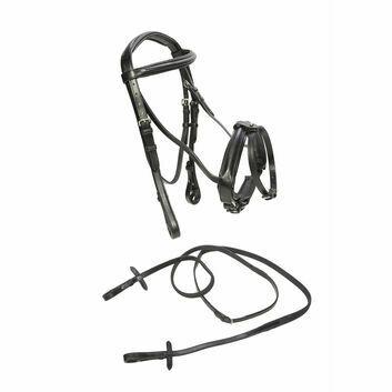 Caldene Bridle Flash Crank with Reins Black